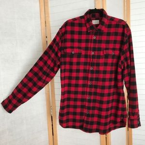 Jachs red & black buffalo check flannel shirt XLT